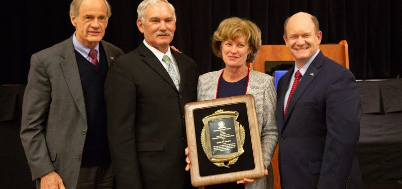 Provost Morgan honored with Distinguished Service to Delaware Agriculture award